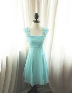 Marilyn Monroe Mad Men Minty Mint Seafoam Blue by RiverOfRomansk, $46.80--possible bridesmaid dress?  @Airen Gibeault
