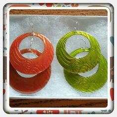 NWOT 2 Pair's Hoop Earrings  Brand New Never Worn Earring Bundle From Avon. 1 Pair Of Lime Green And 1 Pair Of Orange Redish Hoops Medium Size. The Orange Redish Pair Has One Darker Then The Other But Other Then That Excellent Condition Bought From Another Posher And They're Not The Colors I Needed  TRADES  PAYPAL  OFFERS PRICE NOW FIRM  Avon Jewelry Earrings