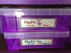 Love these Really Useful Boxes for math Tool Kits!  They are AWESOME!