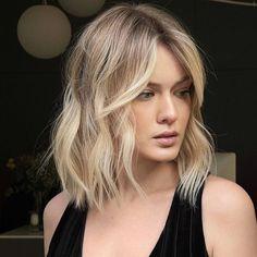 Medium Haircuts With Bangs, Thin Hair Haircuts, Short Hair With Bangs, Medium Hair Cuts, Short Hair Cuts, Medium Hair Styles, Straight Hairstyles, Short Hair Styles, Lob Haircut With Bangs