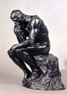 """Famous statue by Auguste Rodin - """"The Thinker"""".... 1881-83"""