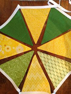 Green and Yellow Bunting Banner Flags https://www.etsy.com/shop/ThirtySixDesign?ref=si_shop