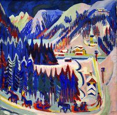 Ernst Ludwig Kirchner - Setigtal, 1922 at Kunsthaus Zürich - Zurich Switzerland