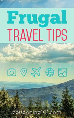 Lots of great tips for saving money when traveling.