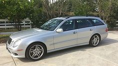 """Car and Driver once called Mercedes' AMG 'the mother of all wagons."""" Today's Nice Price or Crack Pipe 2006 is a rare opportunity to own that bad muthah. Mercedes E55 Amg, Mercedes Benz Cars, Classic Mercedes, Shooting Brake, Station Wagon, Touring, Age, Friends, Vehicles"""
