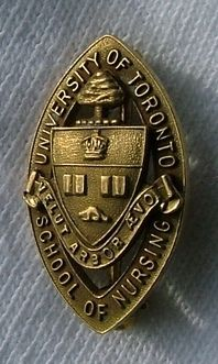 University of Toronto School of Nursing Graduation Pin, 1960.