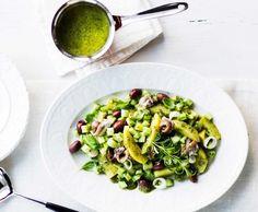 Salad recipies: green potatoe salad and salsa verde/vihreä perunasalaatti ja salsa verde