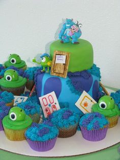 Monsters Inc baby shower cake Maybe not with the baby though