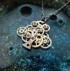 Steampunk Tree Necklace...... <3 want this!!!!!