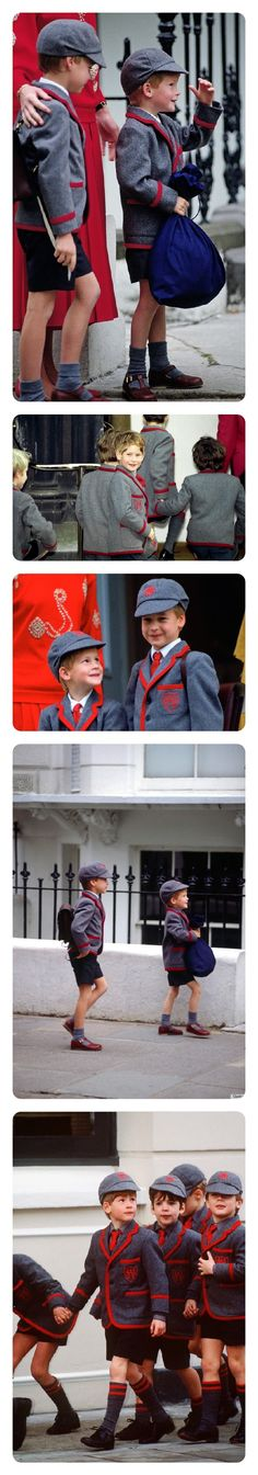 Princes William and Harry on their way to Wetherby Pre-Prep School