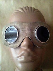 Old Vintage Goggles Welders Leather Metal Steampunk Glasses | eBay