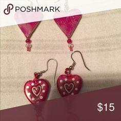 Earrings Hand made heart earrings made from a local artist Jewelry Earrings