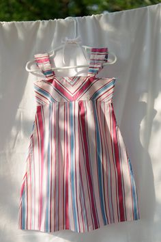 Upcycled mens shirt to girls dress-- made from daddy's shirt!  so cute.
