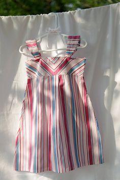 Upcycled mens shirt to girls dress