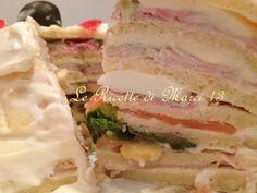 """Club Sandwich...di pancake !!!!  Quest'insolito Club Sandwich di pancake è davvero golosissimo e vale la pena di sperimentarlo, si presta ad essere farcito in mille modi, anche in versione dolce. E' una ricetta scovata in un articolo della """"Cucina Italiana"""" degli anni'90. Seguimi anche su FB: https://www.facebook.com/lericettedimarci13/"""
