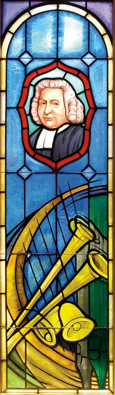 Charles Wesley stained glass window
