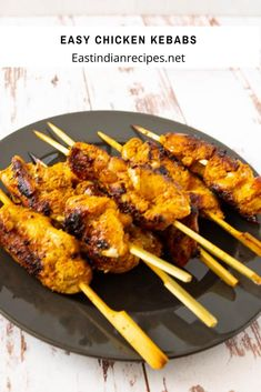 These chicken kebabs are a perfect way to celebrate summer. You can marinate the chicken up to 24 hours in advance, skewer them then grill them outdoors or on an indoor tava or frying pan. Indian Food Recipes, Beef Recipes, Whole Food Recipes, Chicken Recipes, Dinner Recipes, Cooking Recipes, Ethnic Recipes, Moroccan Spices, Moroccan Chicken