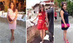 Invitadas de boda con trajes cortos. Alquilalos en www.lamasmona.com