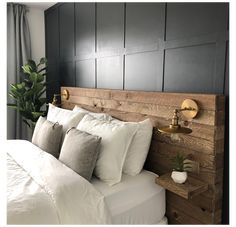 Bed Headboard Wood, Reclaimed Wood Headboard, Rustic Headboard Diy, Salvaged Wood, Headboards For Beds Diy, Reclaimed Wood Bedroom Furniture, Industrial Furniture, Headboard Designs, Headboard Ideas