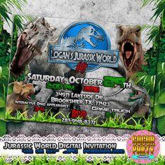Jurassic World Birthday Invitations Click Image to Close Jass