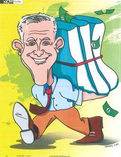 """Check out this fun caricature that our friends at @RetailerNOW Magazine created for an interview Jim """"Mattress Mack"""" McIngvale did with them this month! It was an honor to see Mack featured and we appreciate the support of our community. Stop by 6006 North Freeway TODAY and let Mack know what you think over FREE lunch along with cookies and ice cream! Don't skip a beat and follow Mack on his blog. 