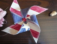 DIY Fabric Pinwheel