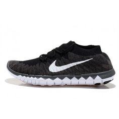 Nike Free Flyknit 3.0 Mens Shoes Black / White $77.00