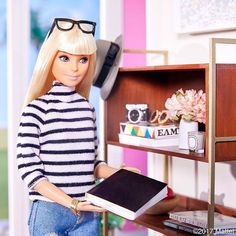 It's #NationaBookLoversDay! I love to fill my home with inspired tomes, what are your favorite books? #barbie #barbiestyle
