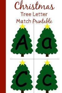 The set up for this preschool Christmas letter match activity is as simple as print and cut!