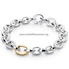 Tiffany And Co Bracelet Circles Silver And Gold