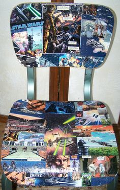 Star Wars Chair - repurposed comic books - My first attempt for our Books Gone Wild Contest.