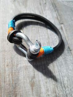 Mannenarmband oranje-blauw #men# bracelet#Orange#Style #tough#mode#madebyLizz♡ €17,=