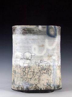 Sam Hall: Large Flat Form (white), ceramic, h. 50cm
