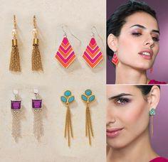 Aretes largo ¡Un hit!  Joyería Dupree Colombia Drop Earrings, Jewelry, Fashion, Earrings, Necklaces, Bangle Bracelets, Jewelry Trends, Ring Bracelet, Rings