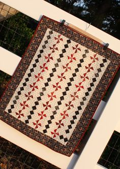 """Temecula Quilt Co- Finished size - 24"""" x 30""""  Pattern - Prairie Women's Sewing Circle."""