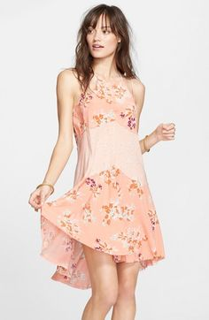 1920s spring garden party dress - Women's Free People 'Crescent' Print Slipdress