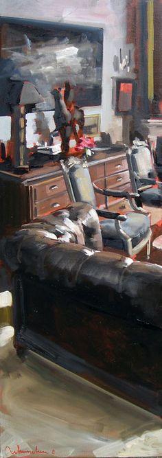 LE GRAND SALON AU PRINTEMPS Huile sur toile 2 x 120 x 40 cm