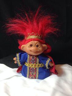 Troll King Original Troll 2001 Playmates Toys Red Hair