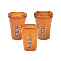 Oriental Trading has Football Disposable Cups and many other inexpensive Superbowl supplies