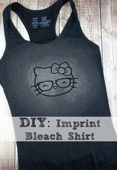 DIY Hello Kitty Imprint Bleach Shirt