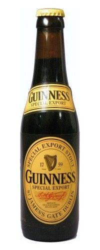 Cerveja Guinness Special Export, estilo Foreign Extra Stout, produzida por St. James's Gate, Irlanda. 8% ABV de álcool.