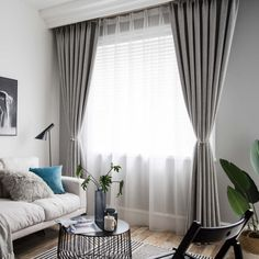 Solid Grey Blackout Curtain Modern Simple Curtain Living Room Bedroom Fabric(One Panel) Furniture Sale, Bedroom Furniture, Furniture Design, Curtains Living, Modern Curtains, Living Room Bedroom, Living Room Decor, Ikea Bedroom, Living Room Grey