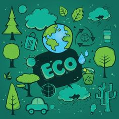 Free set of eco icons vector graphic Photoshop Actions, Clip Art, Branding, Graphic Design, Vectors, Illustration, Icons, Color, Free