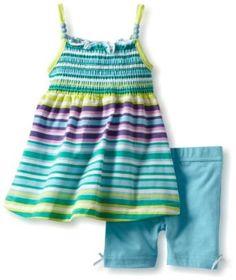 07c6f47135a Little Lass Baby-Girls Infant 2 Piece Multi Stipe Short Set
