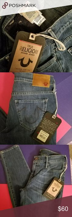 """New """" Abby """" super skinny True Religion jeans Vintage from 2003. Never worn 100% Authentic and new. I love how they are a casual skinny jean for everyday use. True Religion Jeans Skinny"""