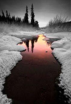Just walk away: Snowfall heart