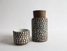 30% OFF! Ingrid Atterberg for Uppsala Ekeby set of two stunning 1950s ceramic vases