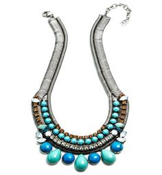 #Collar Zinnia bañado en plata con cristales de Swarovski de Dannijo para Muïc (527 euros).