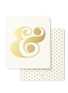 Gold Ampersand #katespade