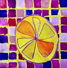 Complimentary color citrus fruit - tints and shades. Elements And Principles, Elements Of Art, Color Wheel Art, Fruit Art Kids, Citrus Fruits, Fruit Painting, Complimentary Colors, Elementary Art, Teaching Art